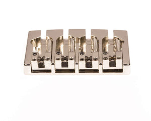 Hipshot A Style 4 String Bass Bridge Brass, Nickel, Retrofits 5 Hole Fender