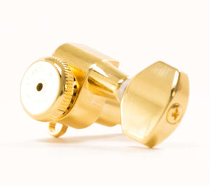 Hipshot Vintage 8.5mm Gold Non-Staggered Enclosed Grip-lock Tuner UMP Upgrade Kit