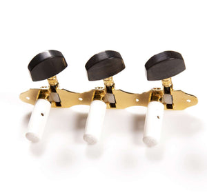 Genuine Schaller Germany Classical Guitar Hauser Tuners 3x3 Gold with Ebony Buttons