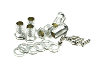 Genuine Hipshot Guitar Tuner Hardware set - Open Gear, Satin Chrome