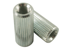 Load image into Gallery viewer, Kluson Anchor Bushings (2) fror studs Fine Knurl 1.25 in clear zinc (USA Made)