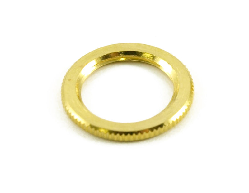 Genuine Knurled Dress Nut For Switchcraft Switches - Gold