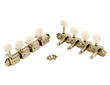 Load image into Gallery viewer, Kluson Supreme F Type Nickel Mandolin tuners, 18:1 Ratio, Pearl Buttons
