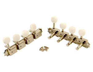 Kluson Supreme F Type Nickel Mandolin tuners, 18:1 Ratio, Pearl Buttons