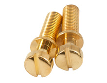 Load image into Gallery viewer, Kluson Stop Tailpiece Studs (2) Steel 0.781 Inch Gold (USA Made)