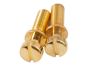 Kluson Stop Tailpiece Studs (2) Steel 0.781 Inch Gold (USA Made)