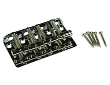 Load image into Gallery viewer, Genuine Kluson Vintage 70s Replacement Jazz Bass J-Bass Bridge  - Chrome KVBB70C