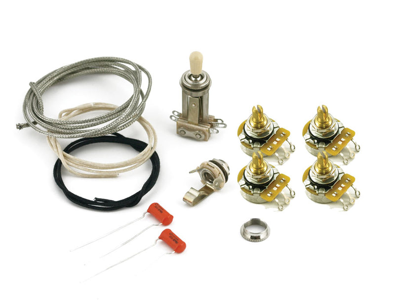 Genuine WD Les Paul Complete Wiring Kit Short shafts, CTS, Switchcraft