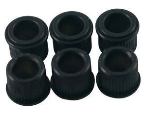"Kluson Adapter bushings, 1/4"" Black (set of 6) MB65B-L US"