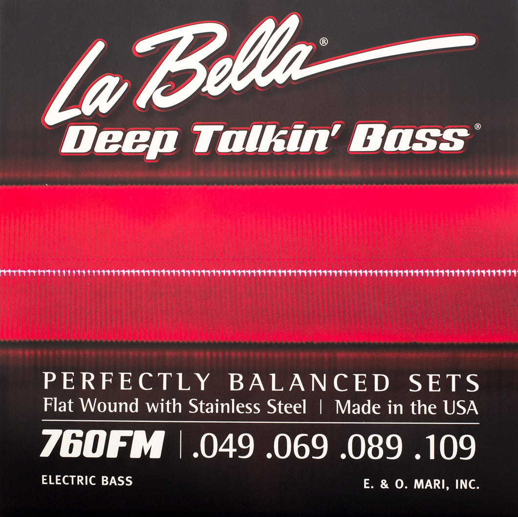 Gold Tone MBSLS LaBella 760FM Flat Wound Steel strings for Microbass