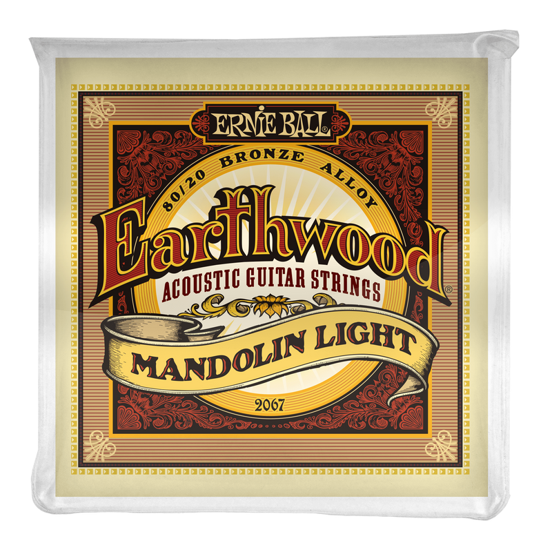 Ernie Ball Earthwood Mandolin Light Loop End 80/20 Bronze Strings