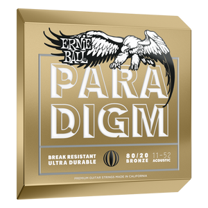 Ernie Ball Paradigm Light 80/20 Bronze Acoustic Guitar Strings New