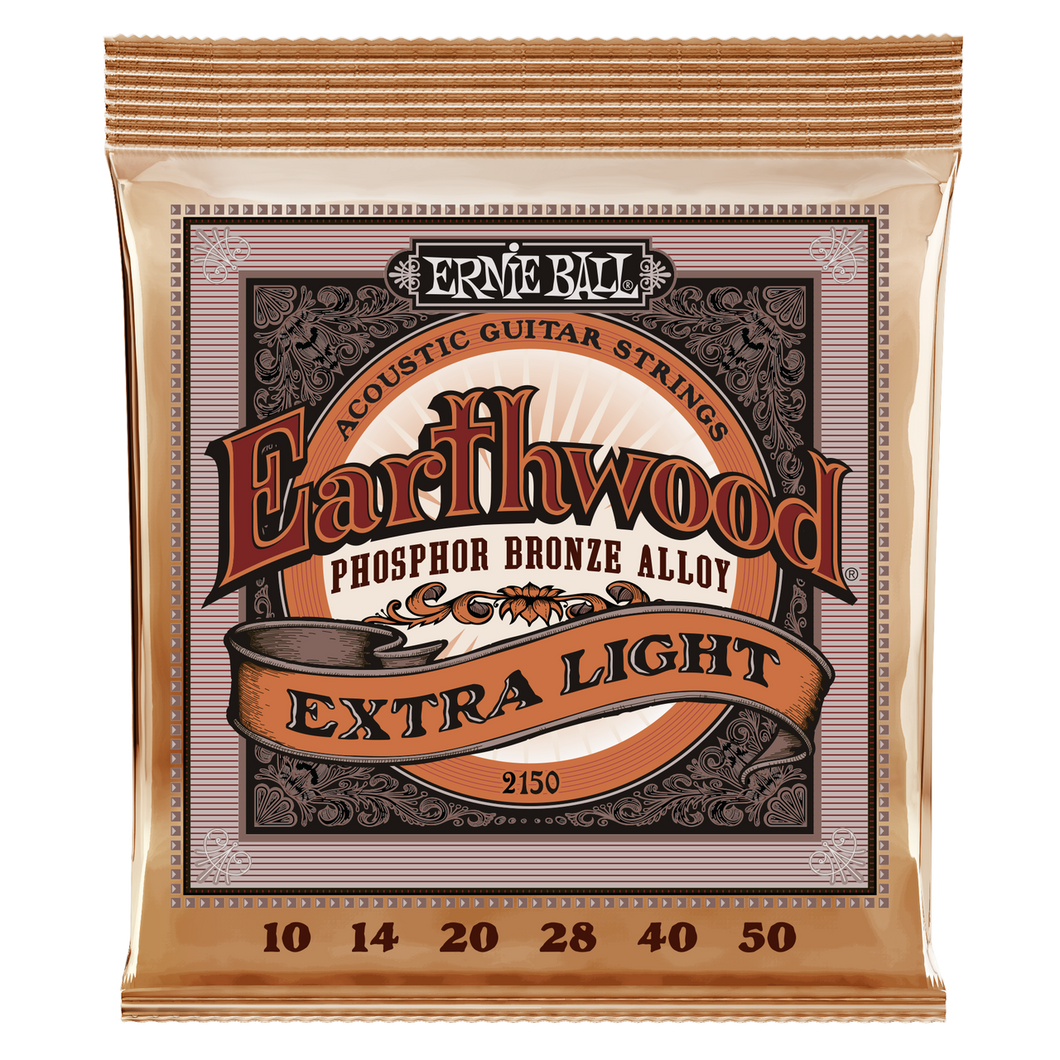 Ernie Ball Earthwood Phosphor Bronze Extra-Light Acoustic Guitar Strings