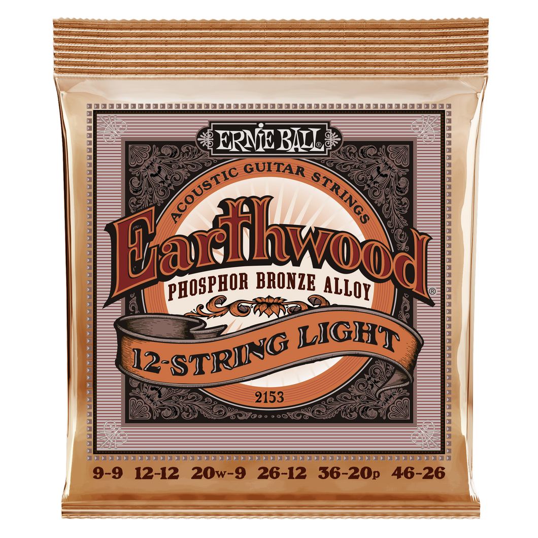 Ernie Ball Earthwood Phosphor Bronze 12-String Light Acoustic Guitar Strings