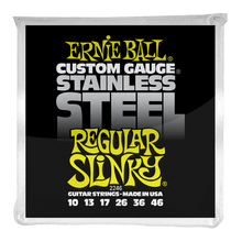 Load image into Gallery viewer, Ernie Ball Regular Slinky Stainless Steel Wound Electric Guitar Strings 10-46