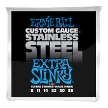 Load image into Gallery viewer, Ernie Ball Extra Slinky Stainless Steel Wound Electric Guitar Strings 8-38