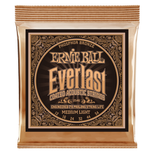 Load image into Gallery viewer, Ernie Ball Everlast Coated Phosphor Bronze Medium Light Acoustic Guitar Strings