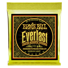 Load image into Gallery viewer, Ernie Ball Everlast Coated 80/20 Bronze Medium Light Acoustic Guitar Strings