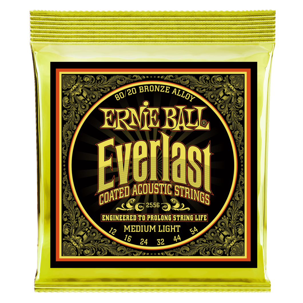 Ernie Ball Everlast Coated 80/20 Bronze Medium Light Acoustic Guitar Strings