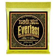 Load image into Gallery viewer, Ernie Ball Everlast Coated 80/20 Bronze Extra Light Acoustic Guitar Strings