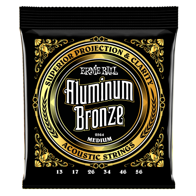 Ernie Ball Medium Aluminum Bronze Acoustic Guitar Strings