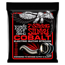 Load image into Gallery viewer, Ernie Ball Cobalt 7 String Skinny Top heavy Bottom Slinky Guitar Strings 10-62