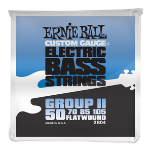 Ernie Ball Flatwound Group II Electric Bass Strings 50-105