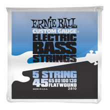 Load image into Gallery viewer, Ernie Ball Flatwound 5 String Electric Bass Strings 45-130