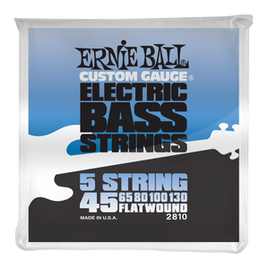 Ernie Ball Flatwound 5 String Electric Bass Strings 45-130