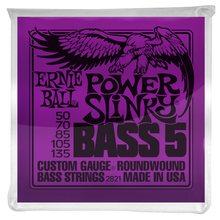 Load image into Gallery viewer, Ernie Ball Power Slinky Nickel Wound 5 String Electric Bass Strings 50-135