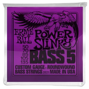 Ernie Ball Power Slinky Nickel Wound 5 String Electric Bass Strings 50-135