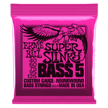 Load image into Gallery viewer, Ernie Ball Super Slinky Nickel Wound 5 String Electric Bass Strings 40-125