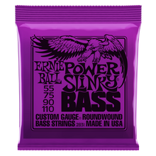 Load image into Gallery viewer, Ernie Ball Power Slinky Nickel Wound Electric Bass Strings 55-110