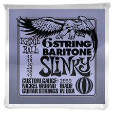 Load image into Gallery viewer, Ernie Ball Slinky 29-5/8 Scale Nickel Wound 6 String Baritone Guitar Strings