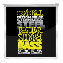 Load image into Gallery viewer, Ernie Ball Regular Slinky Stainless Steel Electric Bass Strings 50-105