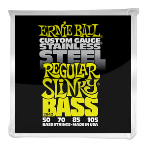 Ernie Ball Regular Slinky Stainless Steel Electric Bass Strings 50-105