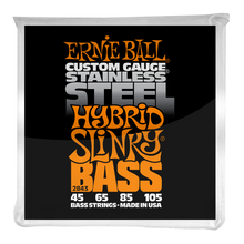 Load image into Gallery viewer, Ernie Ball Hybrid Slinky Stainless Steel Electric Bass Strings 45-105