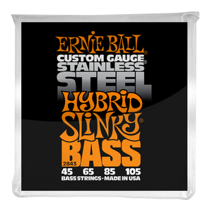 Ernie Ball Hybrid Slinky Stainless Steel Electric Bass Strings 45-105