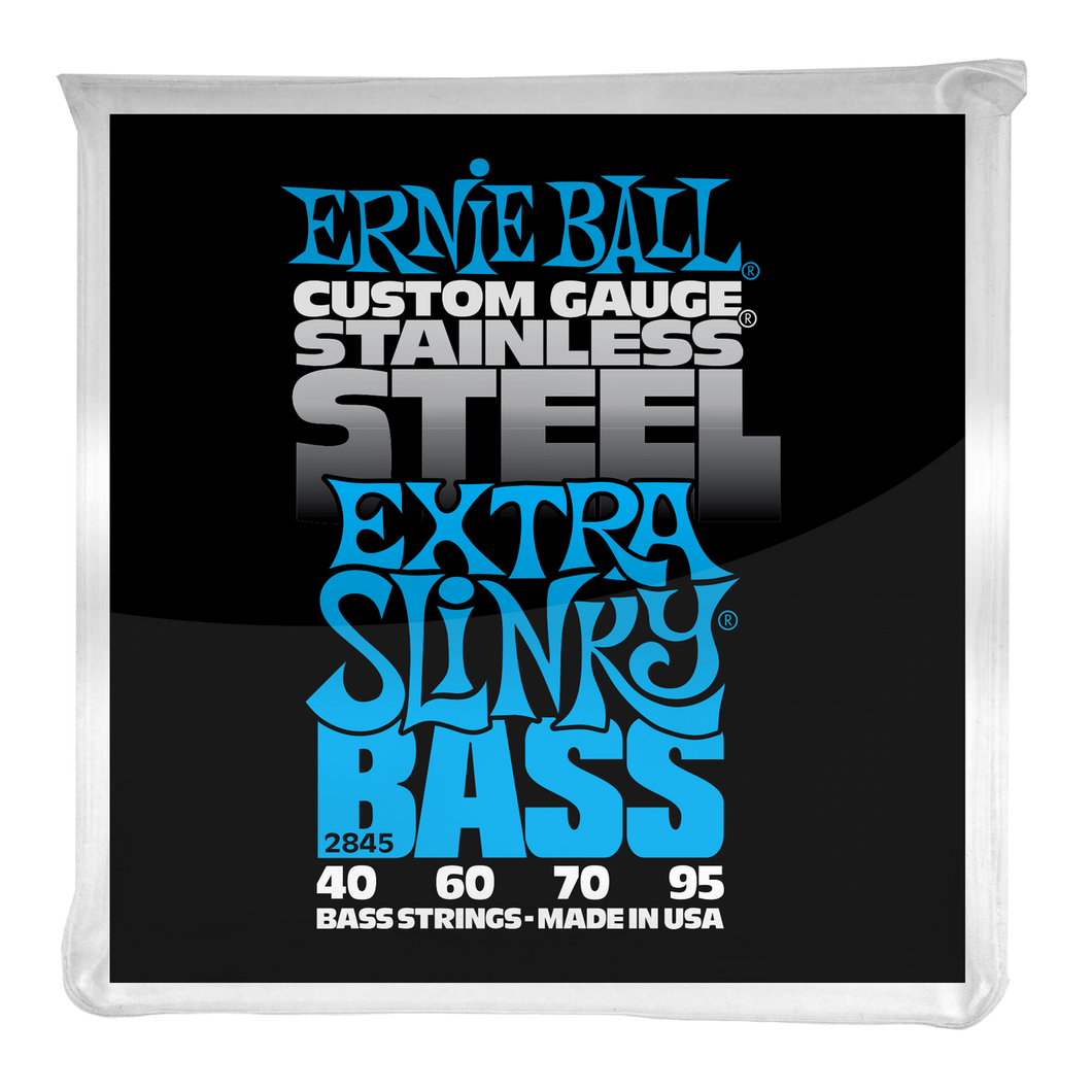 Ernie Ball Extra Slinky Stainless Steel Electric Bass Strings 45-100
