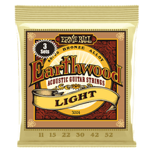Load image into Gallery viewer, Ernie Ball Earthwood Light 80/20 Bronze Acoustic Guitar Strings 3-Pack