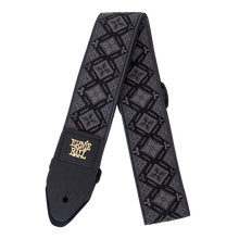 Load image into Gallery viewer, Ernie Ball Regal Black Jacquard Guitar Strap 4093 New
