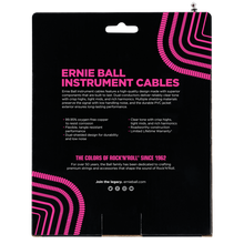 Load image into Gallery viewer, Ernie Ball 30ft  White Vintage Classic Coiled Straight/Angled Instrument cable P06045