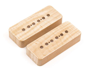 Tone Ninja P90 Pickup Covers, matched pair Genuine Hardrock Maple wood