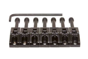 Graph Tech Floyd Rose String Saver Saddles, Black 7 pcs