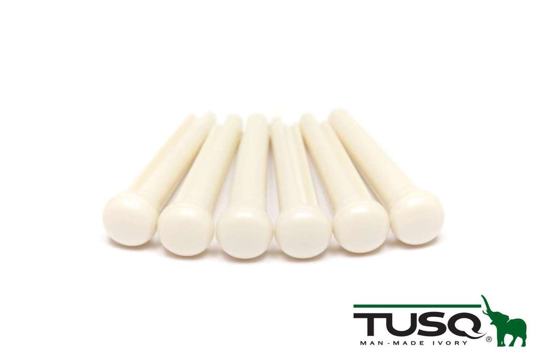 Graph Tech Tusq Traditional Style Bridge Pins, White