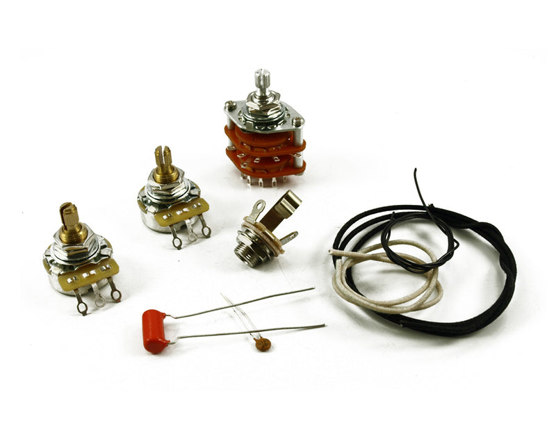 Quality PRS Complete Wiring Kit, CTS, Switchcraft, Sprague components
