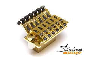 Graph Tech LB63 Floyd Rose Style Locking Bridge with String Savers - Gold