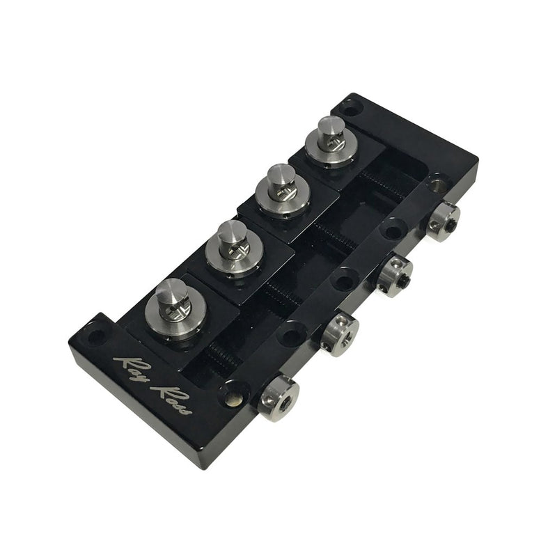 Genuine Ray Ross Bass Guitar Bridge (P-Bass, J-Bass, other 4-String) Black RRB4B