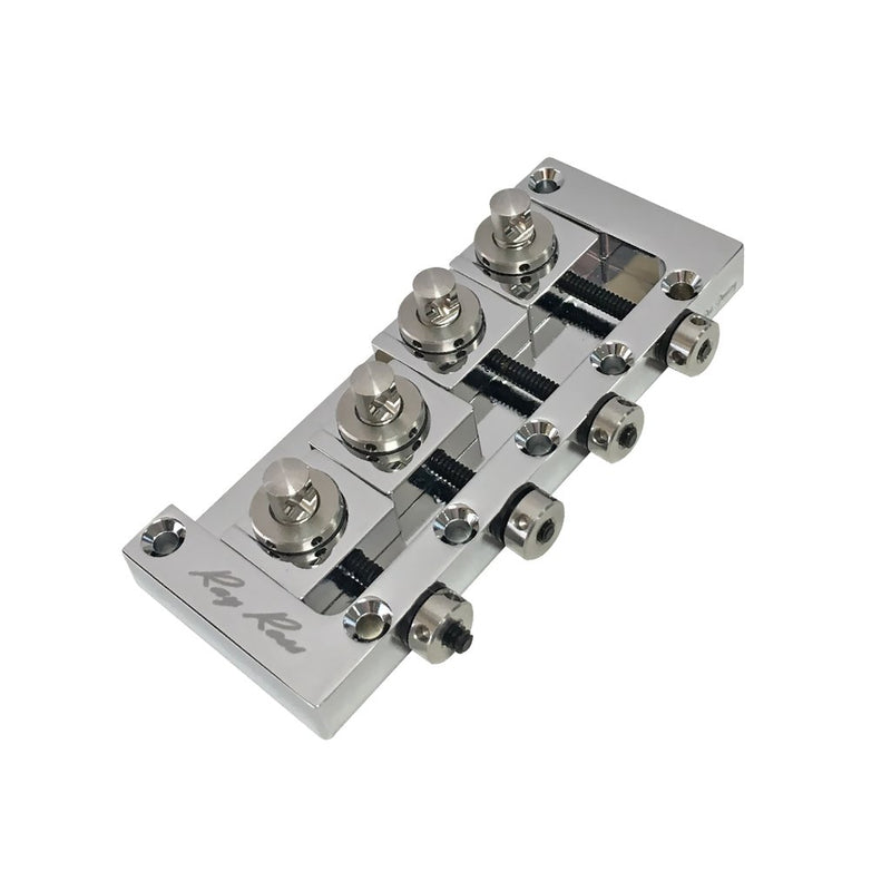 Genuine Ray Ross Bass Guitar Bridge (P-Bass, J-Bass, other 4-String) Chrome RRB4C