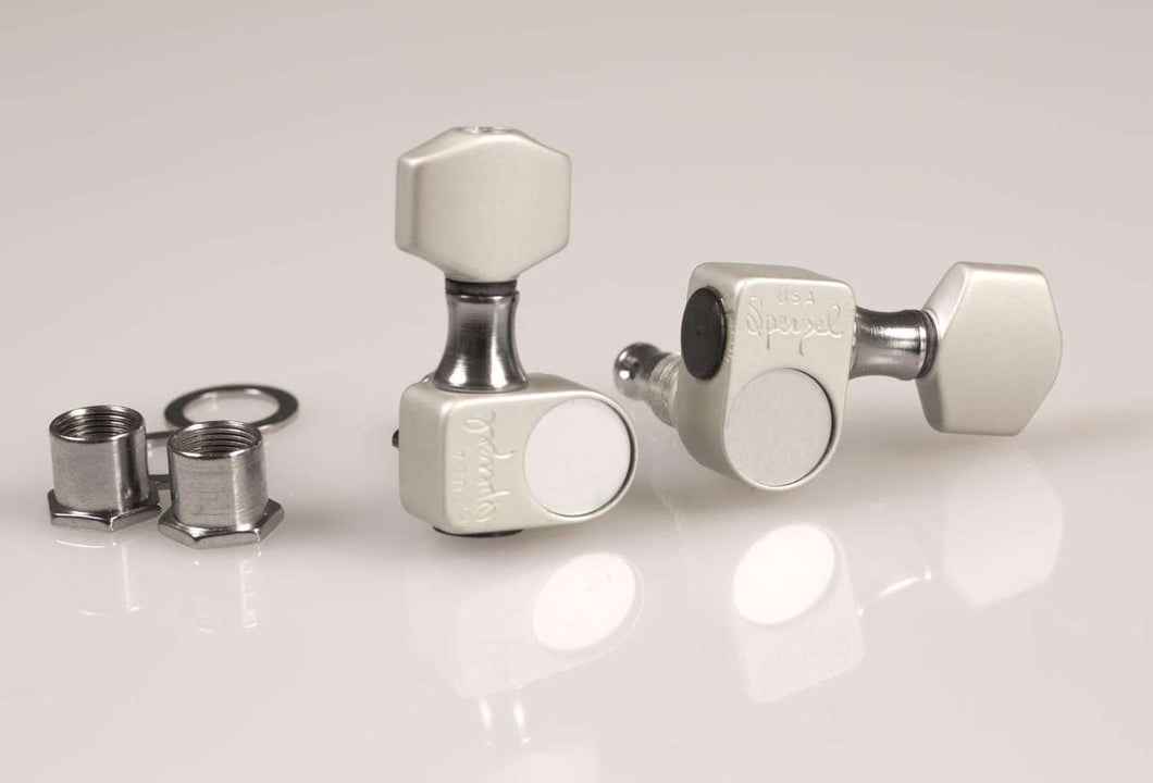 Genuine Sperzel Solid Pro 6 inline Satin Chrome tuners